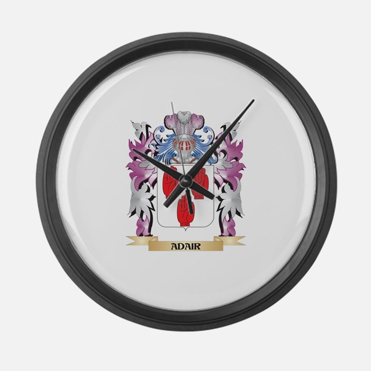 Adair Coat of Arms (Family Crest) Large Wall Clock