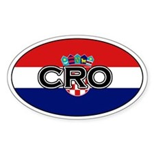 Croatian Decals Oval Decal
