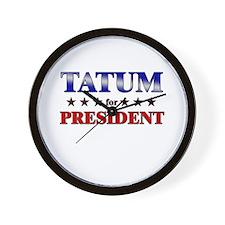 TATUM for president Wall Clock