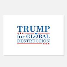 Trump For Global Destruction Postcards (Package of