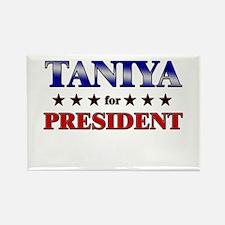 TANIYA for president Rectangle Magnet