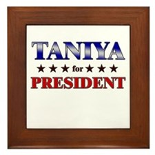 TANIYA for president Framed Tile