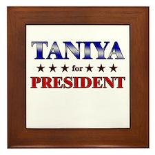 TANIYA for president Framed Tile
