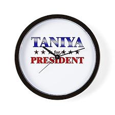 TANIYA for president Wall Clock