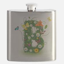 Cute Whimsical daisy Flask