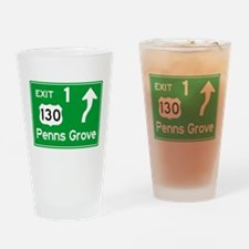 NJTP Logo-free Exit 1 Penns Grove Drinking Glass