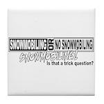 Trick Question Tile Coaster