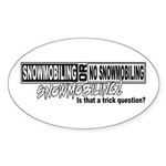 Trick Question Oval Sticker
