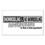 Trick Question Rectangle Sticker