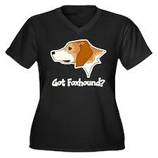 Got Foxhound Women's Plus Size V-Neck Dark T-Shirt