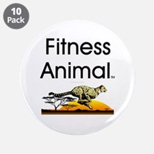 """TOP Fitness Animal 3.5"""" Button (10 pack)"""