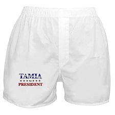TAMIA for president Boxer Shorts