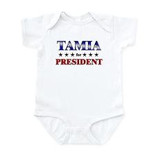 TAMIA for president Infant Bodysuit