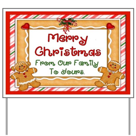 Gingerbread Christmas Greeting Sign