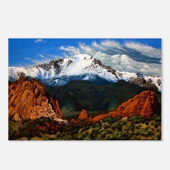 Cute Pikes peak Postcards (Package of 8)