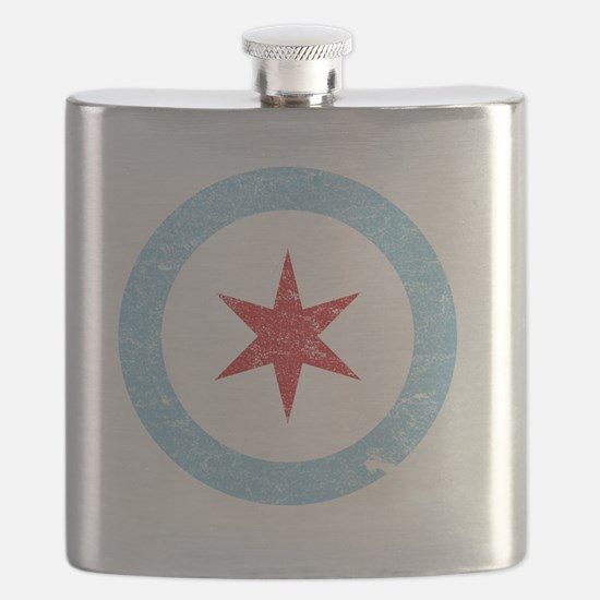 Cool Chicago flag Flask