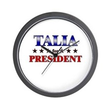 TALIA for president Wall Clock