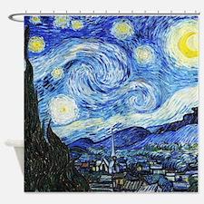 Vincent van Gogh Starry Night Shower Curtain