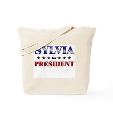 SYLVIA for president Tote Bag