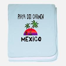 Playa Del Carmen Mexico baby blanket
