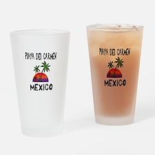 Playa Del Carmen Mexico Drinking Glass