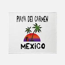 Playa Del Carmen Mexico Throw Blanket