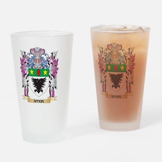 Aitkin Coat of Arms (Family Crest) Drinking Glass