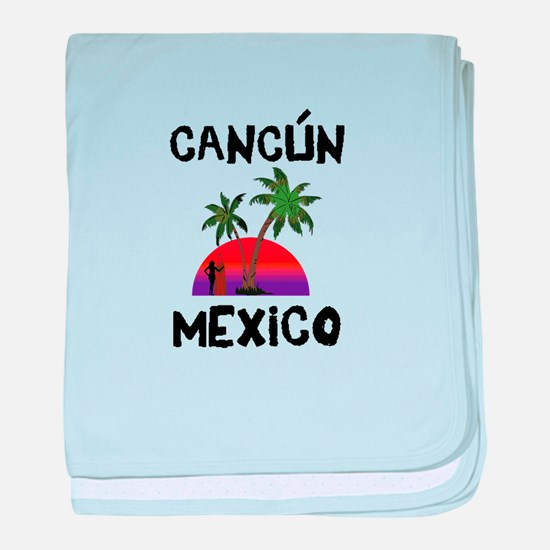 Cancun Mexico baby blanket