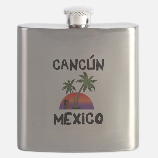 Cancun Mexico Flask