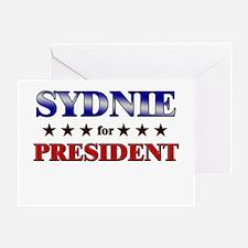 SYDNIE for president Greeting Card