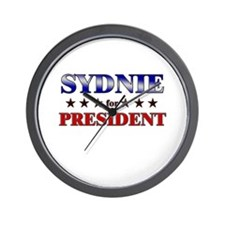 SYDNIE for president Wall Clock