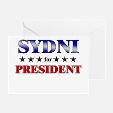 SYDNI for president Greeting Card