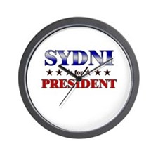 SYDNI for president Wall Clock