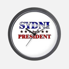 SYDNI for president Wall Clock
