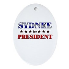 SYDNEE for president Oval Ornament