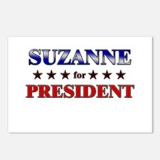 SUZANNE for president Postcards (Package of 8)