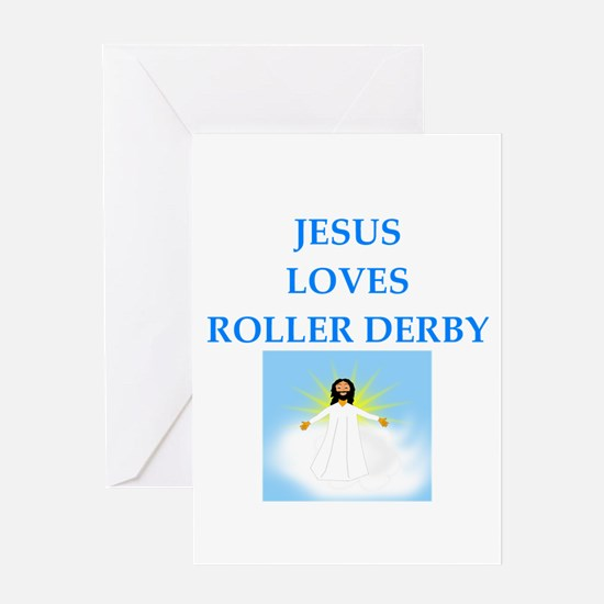 roller derby Greeting Cards