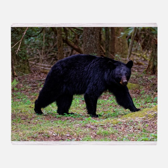 Black Bear Throw Blanket