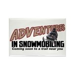 Adventures In Snowmobiling Rectangle Magnet