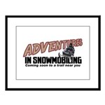Adventures In Snowmobiling Large Framed Print