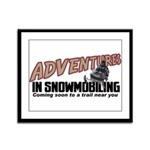 Adventures In Snowmobiling Framed Panel Print