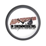 Adventures In Snowmobiling Wall Clock