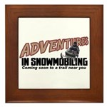 Adventures In Snowmobiling Framed Tile
