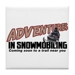 Adventures In Snowmobiling Tile Coaster