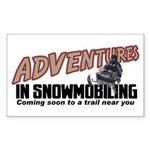 Adventures In Snowmobiling Rectangle Sticker