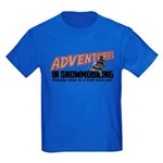 Adventures In Snowmobiling Kids Dark T-Shirt
