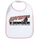 Adventures In Snowmobiling Bib