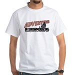 Adventures In Snowmobiling White T-Shirt