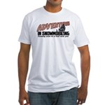 Adventures In Snowmobiling Fitted T-Shirt