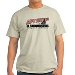 Adventures In Snowmobiling Light T-Shirt